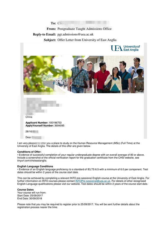 UEA Conditional Offer Letter - Chengxin Niu - 3694095_1.jpg